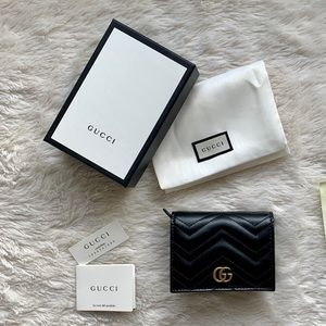 Gucci Small Quilted Leather Marmont Wallet